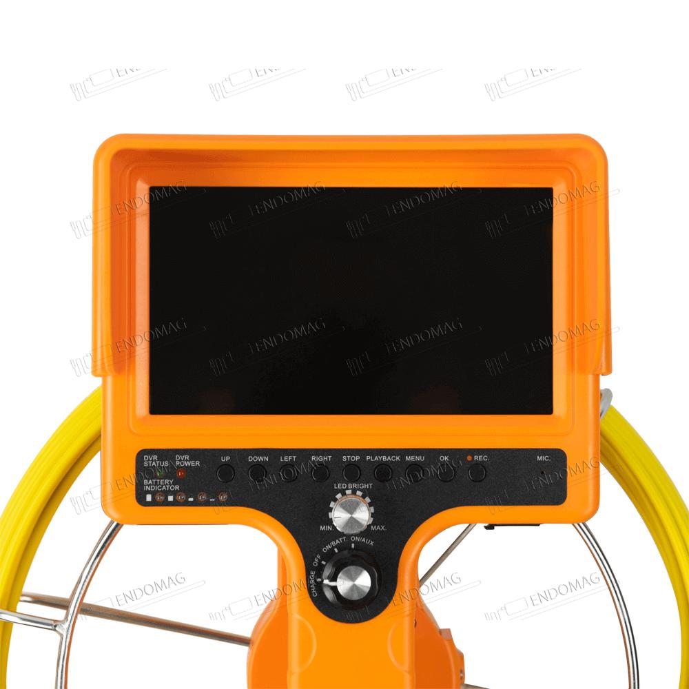 Технический промышленный видеоэндоскоп для инспекции труб WOPSON WPS-710D-SCJ для инспекции, 20 м, с записью - 4